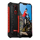Rugged Cell Phones Unlocked, Ulefone Armor 6E Unlocked Rugged Phones Dual Sim 4G 6.2' FHD Android 9.0 Helio P70,4GB+64GB,SOS+NFC+ Face ID+ UV Senso+GPS+Wireless Charge Red