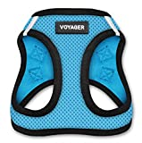 Voyager Step-In Air Dog Harness - All Weather Mesh, Step In Vest Harness for Small and Medium Dogs by Best Pet Supplies - Baby Blue Base, X-Small (Chest: 13' - 14.5')