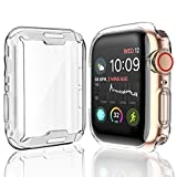 Julk [2-Pack] Case for Apple Watch Series 4 Screen Protector 44mm, 2018 New iWatch Overall Protective Case TPU HD Clear Ultra-Thin Cover for Apple Watch Series 4 (44mm)