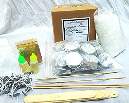 SHAMA 50 Tea Light Candle Making Supplies/Activity kit for Adults, Kids and Art Learner and Gift Pack for Diwali Festival