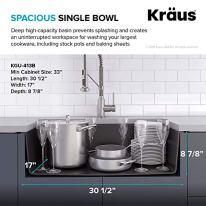 Kraus-KGU-413B-31-inch-Undermount-Single-Bowl-Black-Onyx-Granite-Kitchen-Sink