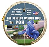 Tuff-Guard The Perfect Garden Hose, Kink Proof Garden Hose Assembly, Beige, 5/8' Male x Female GHT Connection, 5/8' ID, 50 Foot Length