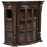 Product review for Display Cabinet - Cardington Square Manor - Wall Mounted Curio Cabinet
