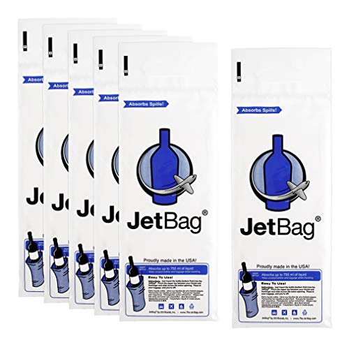Jet Bag Bold - The Original ABSORBENT Reusable & Protective Bottle Bags - Set of 6 - MADE IN THE USA