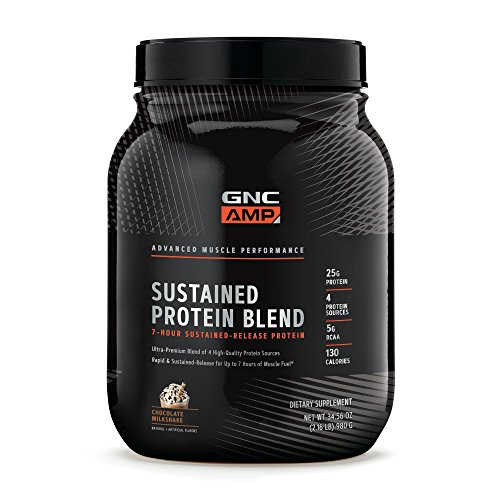 GNC AMP Sustained Protein Blend, Chocolate Milkshake, 28 Servings