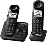 Panasonic KX-TGL432B Dect_6.0 2-Handset Landline Telephone, Black