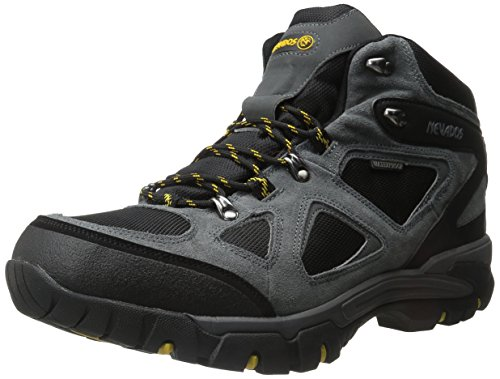 Nevados Men's Spire Waterproof Hiking Boot, Grey/Black/Yellow, 13 M US
