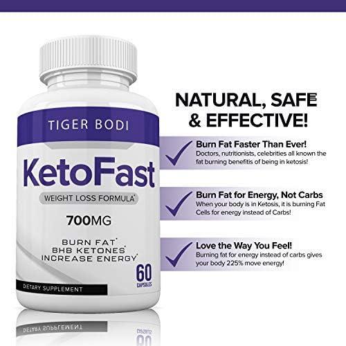 (2 Pack) Keto Fast Diet Pills, Keto Fast 700 mg Burn Capsules - Pure Keto Fast Supplement Burning for Energy - BHB Ultra Boost Exogenous Ketones for Rapid Ketosis for Men Women 6