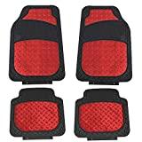 FH Group Red F11315RED Floor Weather Rubber Mats for Cars, Trucks, and SUVs, Universal Trim to Fit Design