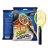 ZAP IT! Bug Zapper - Battery Powered Mosquito, Fly Killer and Bug Zapper Racket - 4,000 Volt - Super-Bright LED Light to Zap in The Dark - Safe to Touch (Mini)