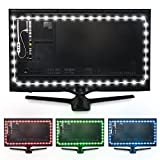 Luminoodle Color Bias Lighting - USB LED TV Backlight with Color, Adhesive RGB Strip Lights with Wireless Remote & Built-in Controller - X-Large (13.1 feet) for 55' to 75' TV