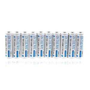 ON THE WAY®10Pcs 14500 3.7V 900mAH Li-ion Lithium Rechargeable Battery AA Batteries with PCB for Led Flashlight