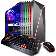 iBUYPOWER Gaming PC Desktop i7-8700K 6-Core 3.7 GHz, GTX 1070 Ti 8GB, Z370 Motherboard, 16GB RAM, 1TB HDD, 240GB SSD, Liquid Cooled, 802.11AC WiFi, Win 10 64-Bit, Slate 9210, RGB Case
