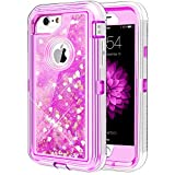 iPhone 6/6S/7/8 Case, Caka iPhone 6S Glitter Case Bling Flowing Floating Luxury Glitter Sparkle TPU Bumper Liquid Case for iPhone 6/6S/7/8 (4.7') - (Love Pink)