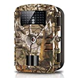 "WOSPORTS Trail Camera Full HD 1080P Hunting Game Camera, 940nm Motion Activated Night Vision 65ft, Waterproof Scouting Cam 2.4"" Wireless Video Camera for Wildlife Monitoring/Home Security,88E"