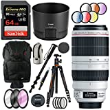 Canon EF 100-400mm f/4.5-5.6L is II USM Lens with Deluxe Vanguard VEHO Ball Head Tripod Plus 64GB Accessories Bundle