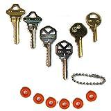 MSPowerstrange Professional 6 Key Depth Key Set (KW1, KW11, SC1, SC4, M1, M10) with Bump Ring