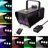 Fog Machine with lights, 400-Watt Portable Fog Machine with Wireless Remote Control, Smoke Machines for Parties Halloween Wedding Christmas Dance DJ