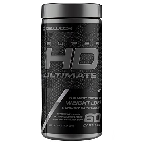 Cellucor SuperHD Ultimate Thermogenic Fat Burner & Weight Loss Supplement with Caffeine and Natural Metabolism Boosters, 60 Count Capsules