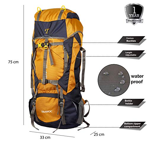 60 Ltrs Travel Backpack for Camping Hiking Trekking