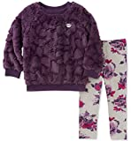 Juicy Couture Baby Faux Fur Pant Sets, country plum/print, 12M
