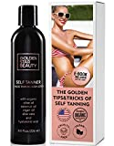 Self Tanner - Sunless Tanning Lotion w/Hyaluronic Acid & Organic Oils Gradual Body Bronzer for Light, Medium or Dark Tan 8.0 fl.oz