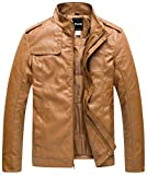 Product review for Wantdo Men's Stand Collar PU Leather Jacket Outwear