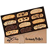 Granny Bella's Christmas Biscotti Gift Baskets, 12 Gourmet Italian Cookies, Corporate Food Box Ideas For Women Prime Delivery Holiday Cookie Basket Valentines Mothers Day Birthday Thanksgiving Gifts