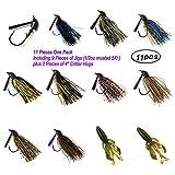 Wtrees Best Fishing Bass Jigs Set/Kit (Jig Kit E)