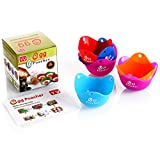 ZFITEI Egg Poacher,Silicone Egg Poaching Cups, For Microwave or Stovetop Egg Cooking, Kraft Box Packing, BPA Free, 6 Pack