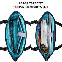 KROSER-Laptop-Tote-Bag-156-Inch-Large-Shoulder-Bag-Lightweight-Water-Repellent-Women-Stylish-Handbag-for-WorkBusinessSchoolCollegeTravel-Lake-Blue