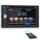 BOSS Audio BV9358B Car DVD Player - Double Din, Bluetooth Audio and Calling, 6.2 Inch LCD Touchscreen Monitor, MP3 Player, CD, DVD, WMA, USB, SD, Auxiliary Input, AM/FM Radio Receiver