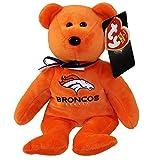 Denver Broncos NFL TY Beanie Baby Teddy Bear Plush 8.5'