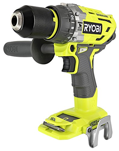 Ryobi P251 One+ 18V Lithium Ion 750 Inch Pound Brushless Hammer Drill Driver w/ 3 Drilling Modes, 24 Position Clutch, and Ergonomic Handle (Renewed)