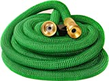 Riemex Expandable Hose Green [New 2019] Heavy Duty Garden Water Hose - Triple Latex - Expanding Solid Brass Metal Fittings Connectors, Flexible Strongest - for All Watering Needs (75 FT)