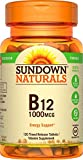 Sundown Naturals Vitamin B-12 1000 mcg, 120 Time Release Tablets(Pack of 1)