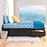 Black Twin XL Mate's Platform Storage Bed with 3 Drawers