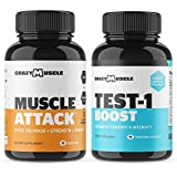 Bundle: Muscle Attack (90 Count) + Testosterone Tablets (90 Count) - Save $7.76