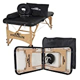 STRONGLITE Portable Massage Table Olympia - Double Knobs, Package w/ Adjustable Face Cradle, Face Pillow, Half Round Bolster & Carry Case (28x73')