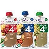 Plum Organics Mighty 4, Organic Toddler Food, Variety Pack, 4 ounce pouches (Pack of 18) (Packaging May Vary)