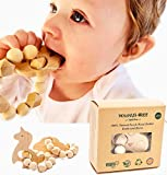 Walnut Tree Infant Love Organic Natural Beech Wood Handcrafted Teether| Koala and Unicorn 2 PCS|: 100% Natural Soothing Beechwood Toy, Perfect 100% BPA, Lead, PVC and Phthalate Free.
