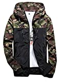 Product review for XQS Men Fashion Hooded Camouflage Printed Windbreaker Jacket Outwear