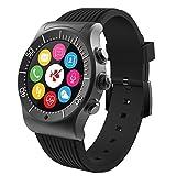 MyKronoz ZeSport - Multisport GPS, Heart Monitoring, Color Screen Smartwatch with Sleek Design (Black/Black)