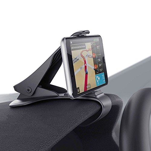 Smartphone Car Mount, HUD Simulating Atex Design Phone Crocs Jaw Dashboard Clip Holder Cradle Phone Safe Driving for i Phone X, 8, 7 Plus Samsung S10,9,8 Other Devices  6.5'' Screen