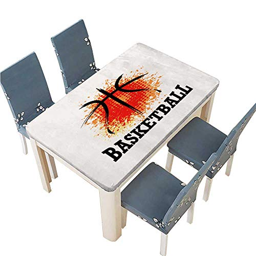 PINAFORE Indoor/Outdoor Vector Grunge Basketball t Shirt Poster Banner backdrops Design Kitchen Tablecloth Picnic Cloth W69 x L108 INCH (Elastic Edge)