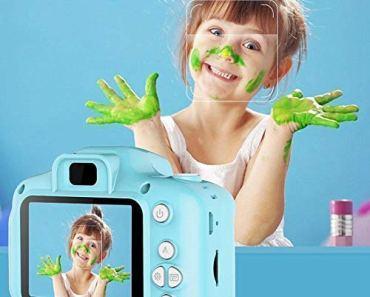 gigev kids digital camera mini cute 8mp hd&1080p 2 inch screen camera toys for boys and girls video recorder- Multi color