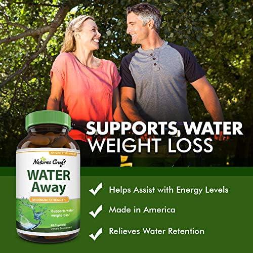 Natural Water Pills - Reduce Excess Water - Weight Loss Appetite Suppressant Benefits - Vitamin B6 Pyridoxine Hydrochloride - Dandelion Root + Pure Green Tea Diuretic for Women & Men 9