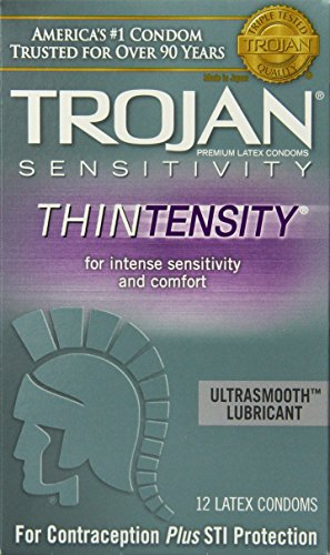 Thintensity Lubricated Condoms, 12 Count