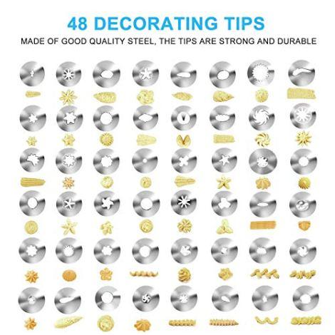 62 Pezzi Kit Per Decorazione Punte