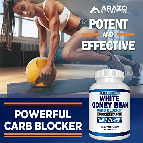White Kidney Bean Extract - 100% Pure Carb Blocker and Fat Absorber for Weight Loss - Intercept Carbs – Arazo Nutrition 7